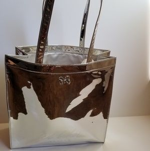 Ted Baker Jencon Mirrored Tote Silver Large